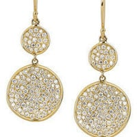 Ippolita - Disc 18-karat gold diamond drop earrings