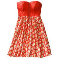Xhilaration® Juniors Strapless Sweetheart Fit and Flare Dress - Assorted Colors