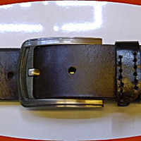 man&#x27;s brown leather belt  33 inch