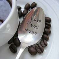 Hand Stamped Coffee Spoon by BabyPuppyDesigns on Etsy