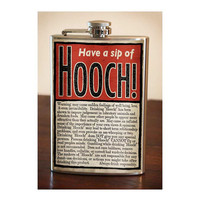 Flask 8oz HOOCH Stainless Steel by trixieandmilo on Etsy