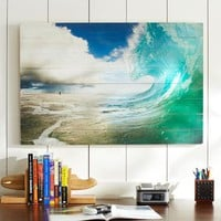 Chris Burkard Photo Real on Wood, Full Wave