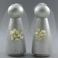 Two Brides Same Sex Wedding Cake Topper | byapryl - Wedding on ArtFire