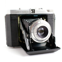 "Antique Black Life"" O Rama III Camera -  Mid Century Rare Small Folding Vintage Accordion Camera / 1950s Fold Up"