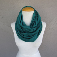 Large Teal Infinity Scarf - Blue Green Cowl - Teal Oversized Scarf