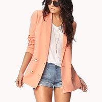 Crested Button Blazer