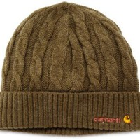 Amazon.com: Carhartt Women's  Cable Knit Hat, Basil Heather, One Size: Clothing