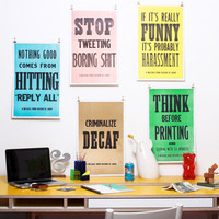 Division of Labor: Division Of Labor Poster Set, at 35% off!