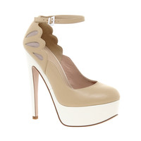 Tan Platform Stilettos