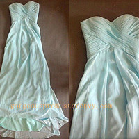 Simple Chiffon Long prom dress/evening dress/graduation dresses from Dresses 2013