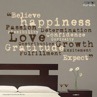 Wall decals BELIEVE EXPECT Inspiring vinyl by decalsmurals on Etsy