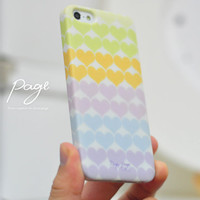 Apple iphone case for iphone iPhone 5 iphone 4 iphone 4s iphone 3Gs : colorful cute heart pattern
