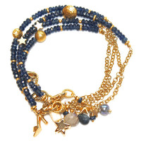 Sapphire Bracelet Gold Chain Star Celestial Labradorite Stacking Bracelets FizzCandy Gemstone Jewelry