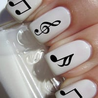 Music Note Nail Decals
