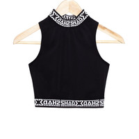SHADE Polo Crop Top - Black - SHADE London | The official website and online store for SHADE London