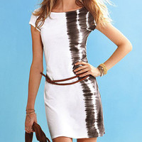 White zebra dress and belt