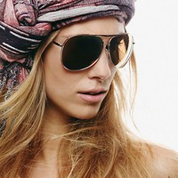 Free People Freeze Aviator Sunglasses