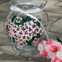 Round Vase With Painted Flowers