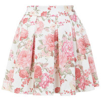 Floral Print Skater Skirt - Skirts  - Clothing