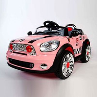 MINI-COOPER Ride On Car Power Wheel Kids W/ MP3 Remote Power Control RC Pink Big Motors New Upgraded With 2 Motors & 6V 10Ah Battery