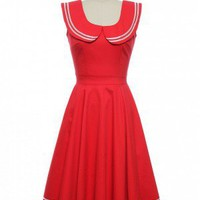 Under the Boardwalk Dress in Red