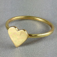 Brass Heart Rings Free Shipping by FancyBrandRings on Etsy