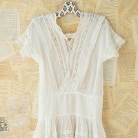 Free People  Vintage Cotton and Lace Top at Free People Clothing Boutique