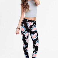 Forgotten Field Floral Leggings - $34.00 : ThreadSence, Women&#x27;s Indie &amp; Bohemian Clothing, Dresses, &amp; Accessories