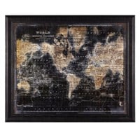 Golden World Map | Framed-art | Art-by-type | Art | Z Gallerie