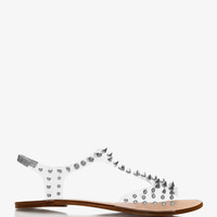 Spike-Accented Clear Sandals | FOREVER21 - 2027926723