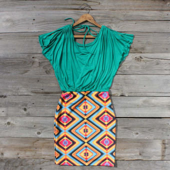 Geometrics Dress, Sweet Women's Country Clothing