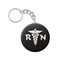 RN Medical Symbol Key Chain from Zazzle.com