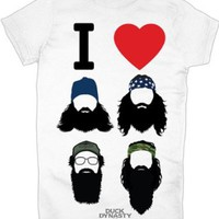 Amazon.com: Duck Dynasty I Heart Beards Juniors T-Shirt: Clothing