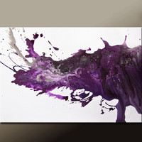 Abstract Canvas Art Painting 36x24 Original Modern Contemporary Paintings by Destiny Womack - dWo - After Midnight