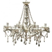 NEW! Mimi 6-arm White Chandelier