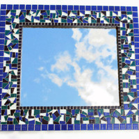 Blue Mosaic Mirror MADE TO ORDER