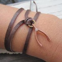 The Wishbone wrap around bracelet by charlieandmarcelle on Etsy