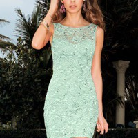 Lipsy Lace Sequin Bodycon Dress