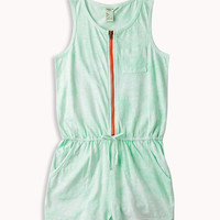 Bleached Slub Knit Romper | FOREVER21 girls - 2050541846