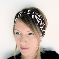 The Turban Headband- In Knit Giraffe Print, bohemian style