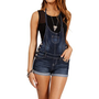 Dark Denim Short Overalls