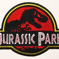 Jurassic Park Iron On Patch 45''  11cm  Dinosaur / by SPARTAPATCH