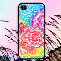 Colorful Batique dyeing a fabric IPhone Case ,Sumsung Galaxy S3, iPhone 5 Case , iPhone 4 Case , iphone 4s case , Plastic hard case, flower