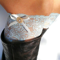 Light Mint Lace boot cuff accessories