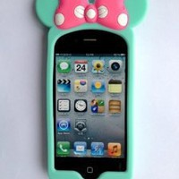 Amazon.com: EiluwaTM Mint-New 3D Cute Cartoon Minnie Soft Silicone Case Cover for Iphone4/4S/4G: Cell Phones & Accessories