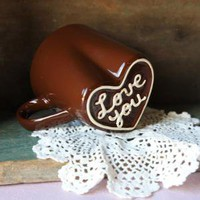 mug love in chocolate 