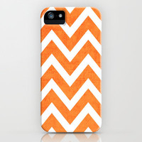 orange chevron iPhone & iPod Case by her art