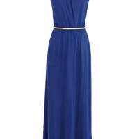 Cut Out Drape Maxi Dress