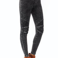 acid-wash-jeggings BLACK - GoJane.com