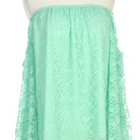 A Lace in the Sun in Mint - Tops